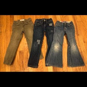 3 Pairs Girls Old Navy Jeans Pants Size 5
